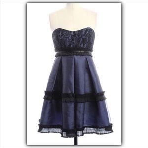 BCBGeneration tulle & lace strapless dress Sz 4